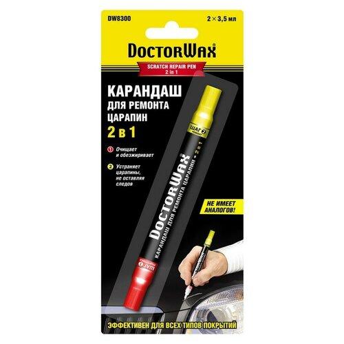 Doctor Wax карандаш для кузова для закрашивания царапин 2 в 1