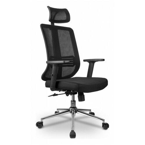 Компьютерное кресло Рива RCH A663 офисное, обивка: текстиль, цвет: черный компьютерное кресло рива 8074 офисное обивка текстиль искусственная кожа цвет оранжевый