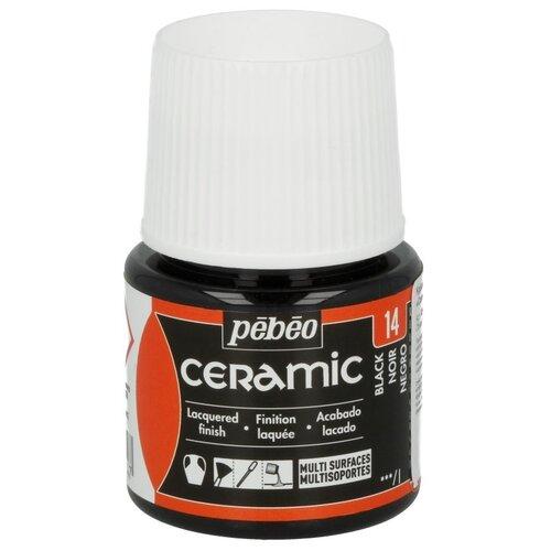 Купить Краска по керамике и металлу Pebeo Ceramic, 45 мл, черный, Краски