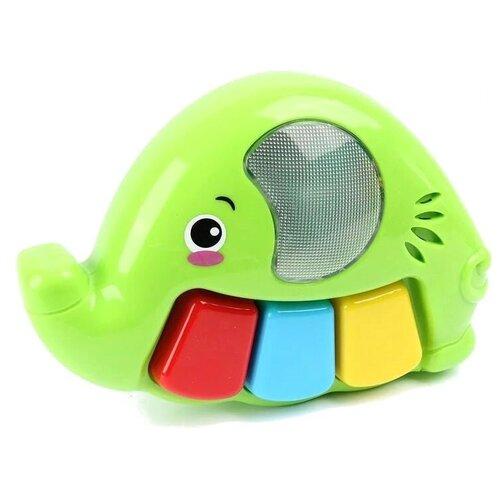 Развивающая игрушка Ути-Пути Слоненок, зеленый
