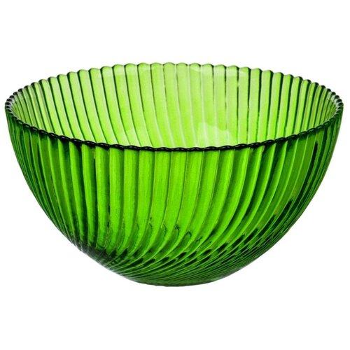 Салатник NinaGlass Альтера зеленый 16 см
