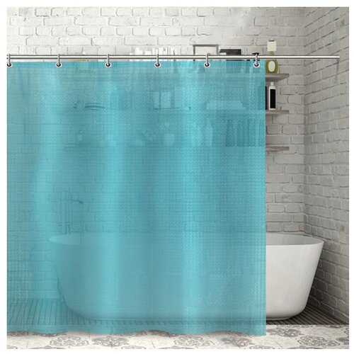 Фото - Штора для ванной Доляна Графика 180х180 732658 синий штора для ванной доляна графика 180х180 732658 синий