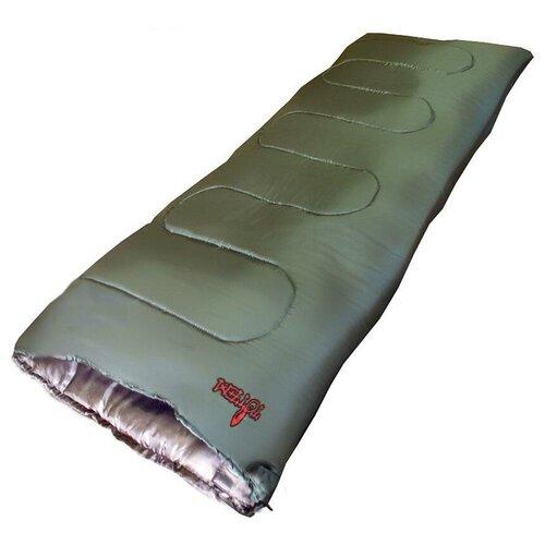 Спальный мешок Totem Woodcock XXL оливковый/морская волна с правой стороны