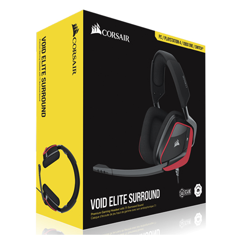 Фото - Компьютерная гарнитура Corsair VOID ELITE SURROUND Premium Gaming cherry компьютерная гарнитура corsair hs50 pro stereo gaming headset черный матовый