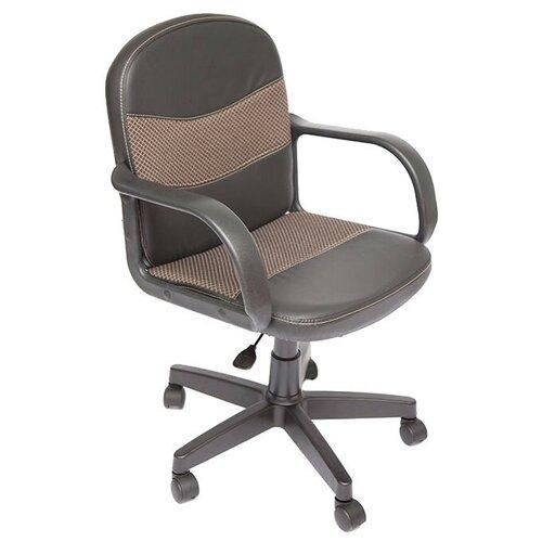 Фото - Компьютерное кресло TetChair Багги офисное, обивка: текстиль/искусственная кожа, цвет: черный/бежевый компьютерное кресло tetchair багги обивка текстиль искусственная кожа цвет черный серый