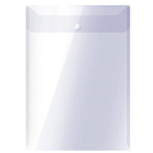 Купить OfficeSpace Папка-конверт на кнопке вертикальная А4, пластик 150 мкм, 10 шт прозрачный, Файлы и папки