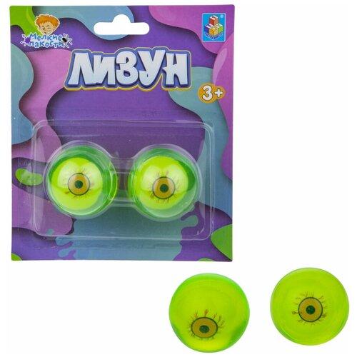 Лизун 1 TOY Глаза Т17758 зеленый
