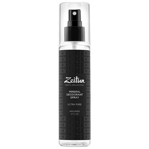 Купить Дезодорант Нейтральный Zeitun минеральный антиперспирант для мужчин без запаха Ультра-чистота, 150 мл