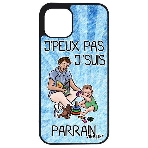 """Чехол на мобильный iPhone 12 mini, """"Не могу - стал крестным!"""" Карикатура Юмор"""