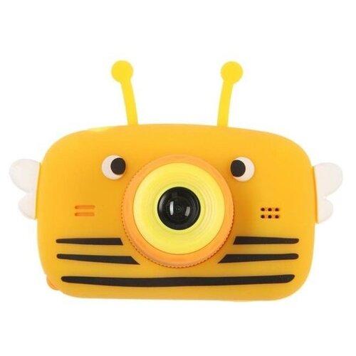 Фотоаппарат Children's Fun Camera Bee со встроенной памятью и играми желтый
