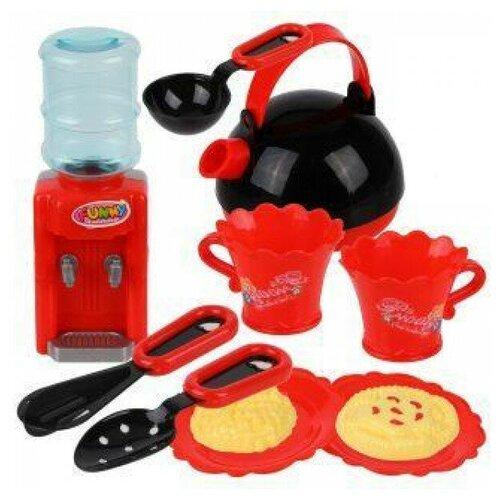 Набор продуктов с посудой Наша игрушка 639405 красный