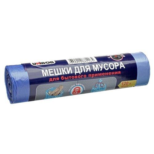 Фото - Мешки для мусора UNIBOB Для бытового применения с завязками 120 л, 10 шт., голубой мешки для мусора спринт пласт 120 л 10 шт