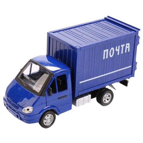Фургон Play Smart ГАЗель почта (Р40517) 1:16, 20 см, синий