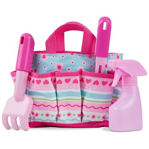 Купить Sunny Patch Набор для садоводства в сумочке(розовый) Melissa Doug 6702, Melissa & Doug, Наборы в песочницу