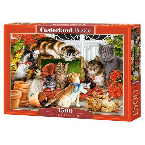 Пазл Castorland Kittens Play Time (C-151639), 1500 дет. пазл castorland kittens play time c 151639 1500 дет