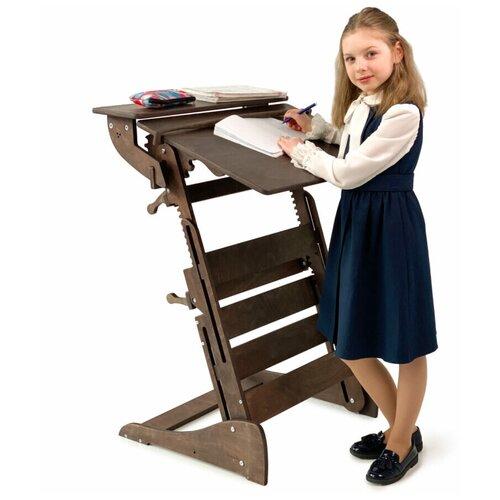 Купить Стол для работы стоя «Гармония» на рост 90-160 см, премиум, темный орех, ЖивиСтоя, Парты и столы