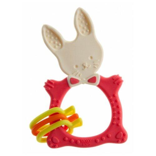 Прорезыватель ROXY-KIDS Bunny коралловый