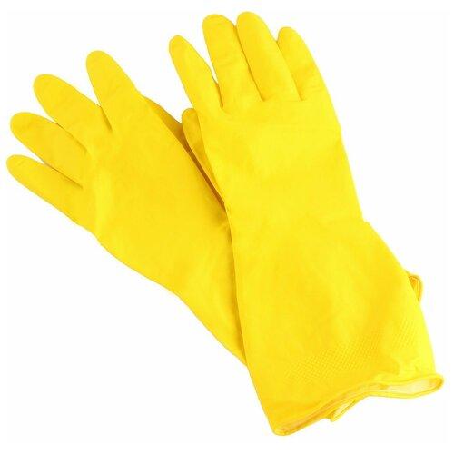 Фото - Перчатки Aviora хозяйственные Резиновые, 6 пар, размер S, цвет желтый перчатки aviora нитриловые 50 пар размер s цвет черный