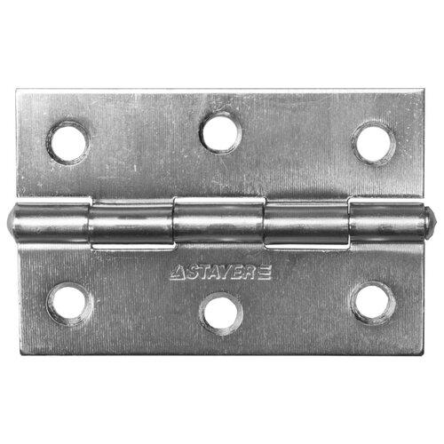 Врезная петля STAYER MASTER универсальная 37611-75 75x50x1.6 мм белый цинк 1 шт.