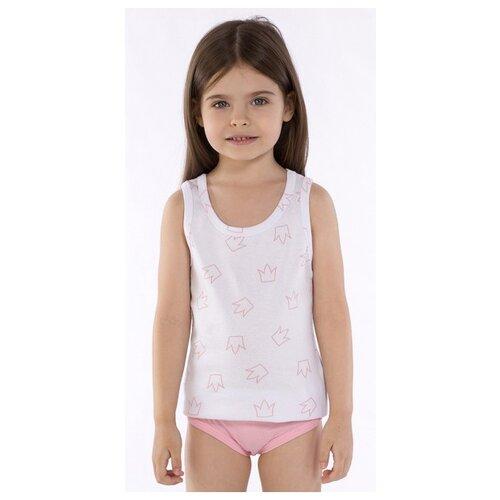 Купить Майка Roxy Foxy размер 104, белый/розовый, Белье и купальники