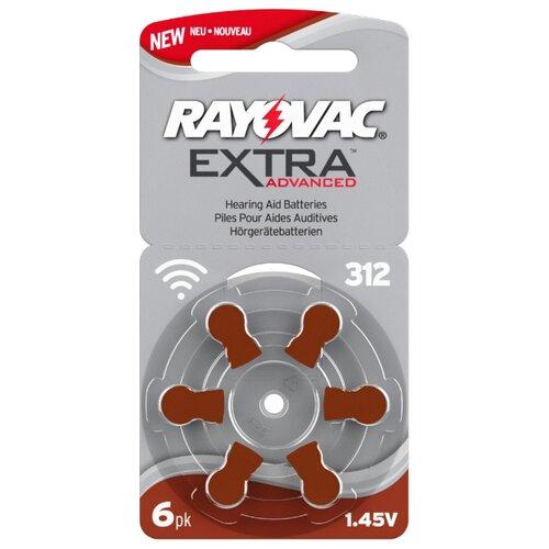 Фото - Батарейка RAYOVAC Extra ZA312, 6 шт. батарейка rayovac extra za312 6 шт