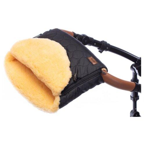 Купить Муфта меховая для коляски Nuovita Polare Pesco (Nero/Черный), Аксессуары для колясок и автокресел