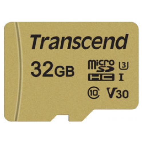 Флеш-накопитель Transcend Карта памяти Transcend 32GB UHS-I U3 microSD with Adapter, MLC