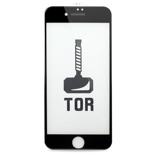 Корейское противоударное стекло для Apple iPhone 7 Plus и 8 Plus с Защитной сеткой на динамике / Стекло премиум класса на Эпл Айфон 7 Плюс и 8 Плюс / TOP 3D-5D Premium (Черный)