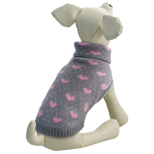 Фото - Свитер для собак Triol Сердечки XXL серый triol triol xxl подгузник для собак весом от 30 кг 10 шт