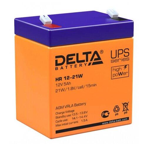 Фото - Аккумуляторная батарея DELTA Battery HR 12-21W 5 А·ч аккумуляторная батарея delta battery gel 12 33 33 а·ч