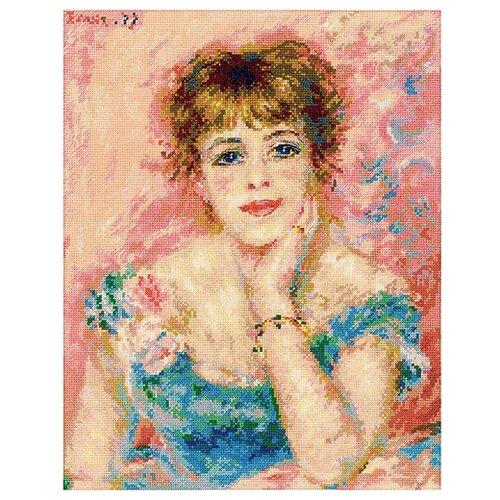 Купить 1439 Набор для вышивания Riolis по мотивам картины Пьера Огюста Ренуара 'Портрет Жанны Самари', 30*38 см, Риолис, Наборы для вышивания