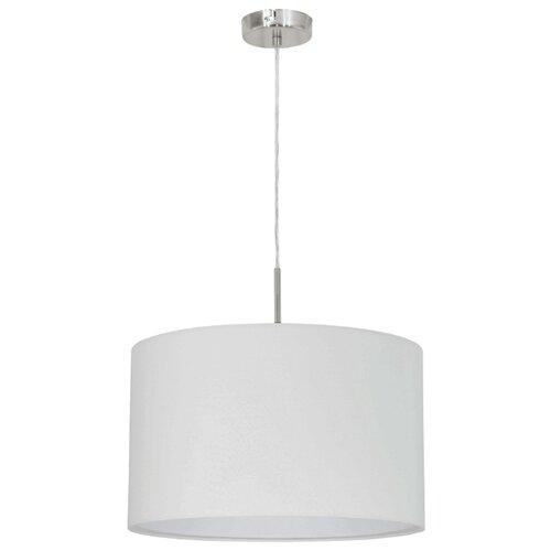 Потолочный светильник Eglo Pasteri 31571, E27, 60 Вт, цвет арматуры: никель, цвет плафона: белый потолочный светильник eglo 94635 e27 60 вт