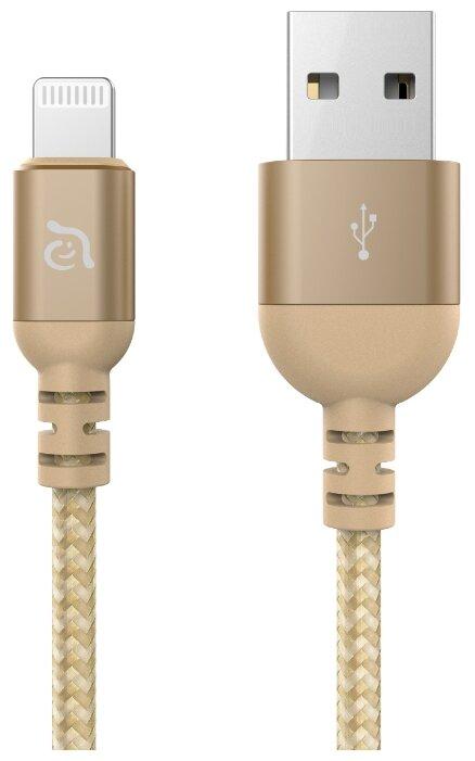Кабель Adam Elements PeAk III USB - Lightning MFI 2 м золотой фото 1