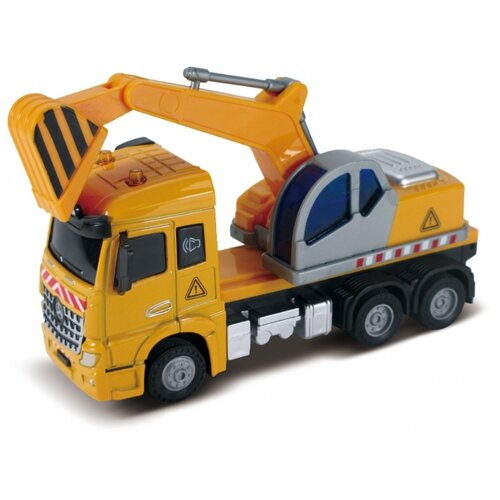 Экскаватор Funky Toys кабина die-cast, инерционный механизм, свет, звук, 1:43 (FT61080)