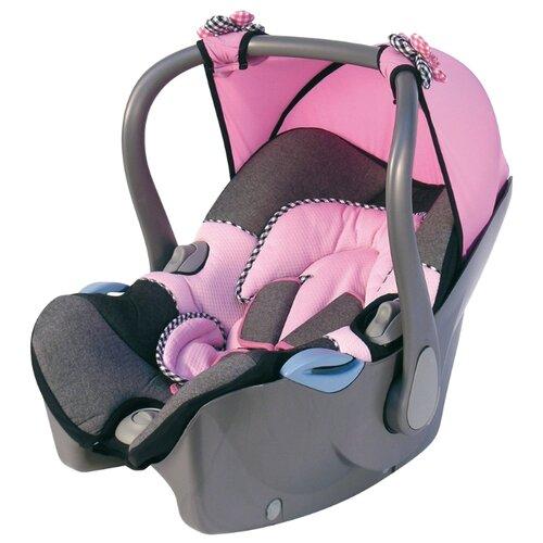 Автокресло-переноска группа 0+ (до 13 кг) Bellelli Nanna Guri, jeans pink автокресло группа 1 2 3 9 36 кг little car ally с перфорацией черный