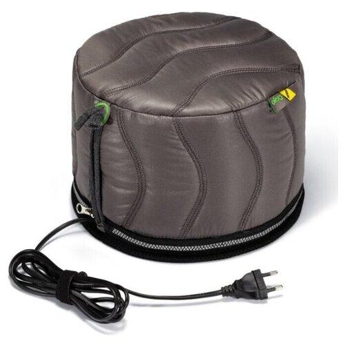 Термошапка для волос с угольной мембраной + двойная теплоизоляция Qojo SIRIUS CARBON (GRAY) 25X18 см.