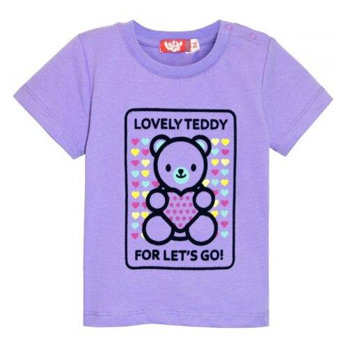 Купить Футболка Let's Go размер 110, фиолетовый, Футболки и майки