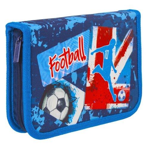 Купить BRAUBERG Пенал Football 229293 синий, Пеналы