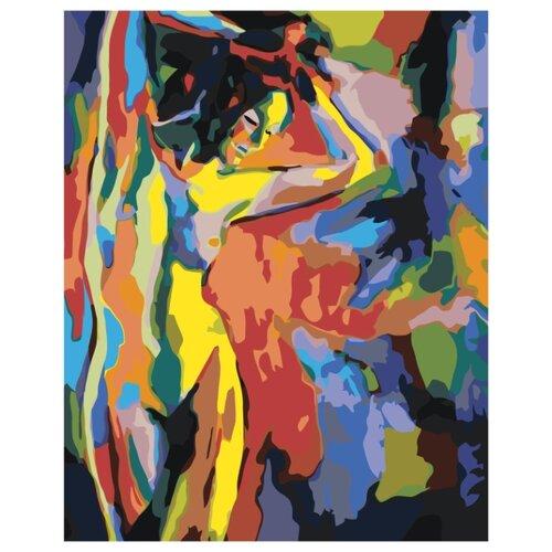 Фигура красочной обнаженной девушки Раскраска картина по номерам на холсте RO281 40х50