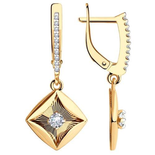Diamant Серьги из золота с родированием с фианитами 51-121-01077-1