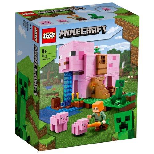Купить Конструктор LEGO Minecraft 21170 Дом-свинья, Конструкторы