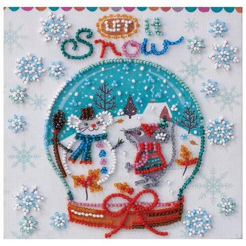 Купить ABRIS ART Набор для вышивания бисером Снежность 15 х 15 см (AM-211), Наборы для вышивания