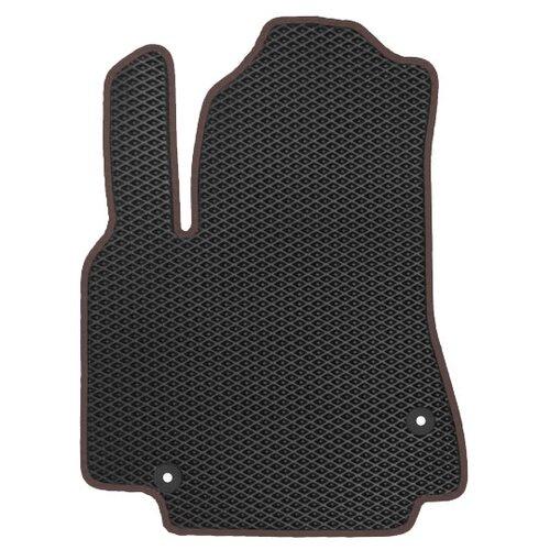 Автомобильный коврик EVA Chery Tiggo (T11) FL 2012-н.в. ViceCar (коричневый кант)