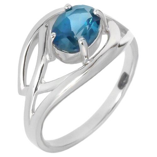 Фото - Balex Кольцо 1405936368 из серебра 925 пробы с топазом Лондон, размер 16.5 element47 кольцо из серебра 925 пробы с топазами лондон r32560h 7 ko lt wg размер 17 25