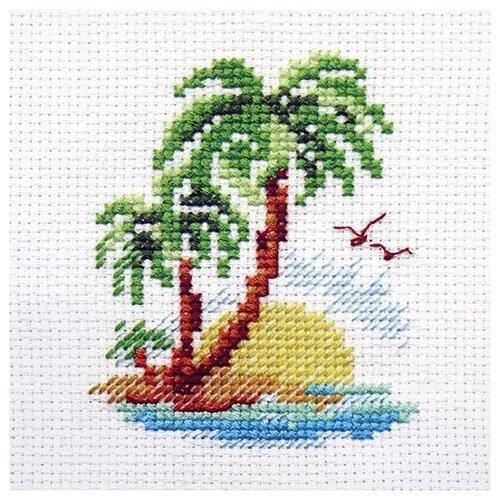 Купить 0-155 Набор для вышивания АЛИСА 'Пальмовый островок' 8*6см, Алиса, Наборы для вышивания