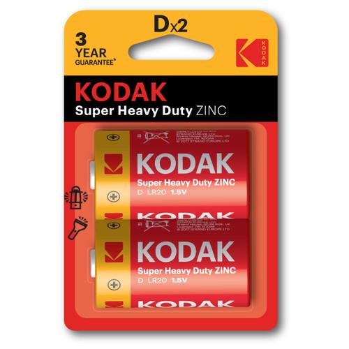 Фото - Батарейка Kodak Extra Heavy Duty R20 D, 2 шт. батарейка defender алкалиновая d lr20 2 шт