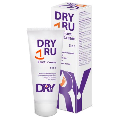 Dry RU Восстанавливающий крем для ежедневного ухода за кожей ног и стоп 5 в 1 75 мл туба