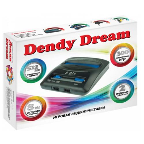 Игровая приставка Dendy Dream 300 встроенных игр черный