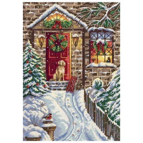 PANNA Набор для вышивания бисером и нитками В канун Рождества 19 x 27 см (PR-7017) 0 pr на 100