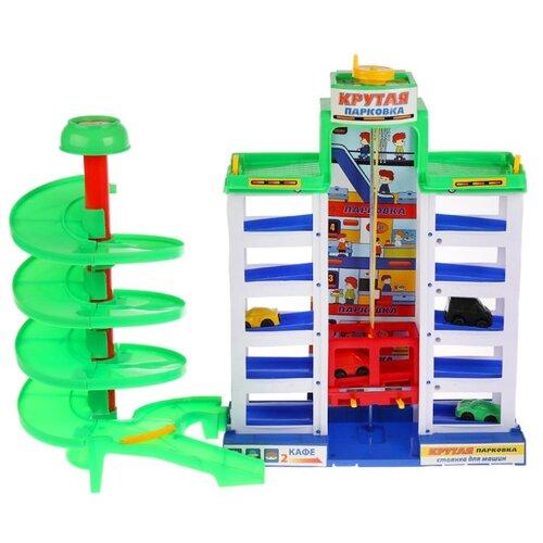 Купить Играем вместе Парковка B57301-R1 голубой/зеленый/желтый, Детские парковки и гаражи